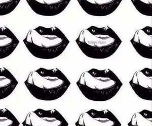 lips, wallpaper, and black image