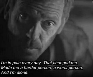 pain, quote, and alone image