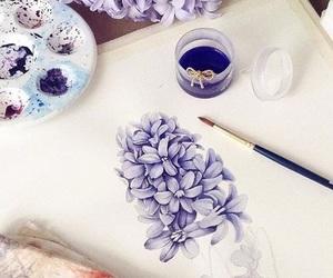 flowers, art, and purple image