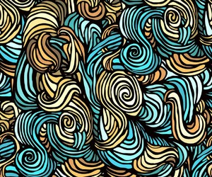 pattern and blue image