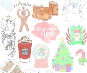 background, christmas, and overlay image