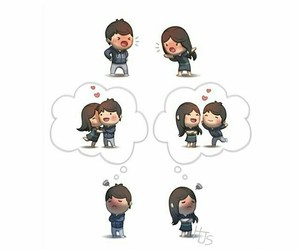 couple, heart, and realationship image