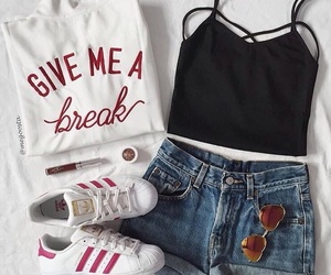 outfit, adidas, and clothes image