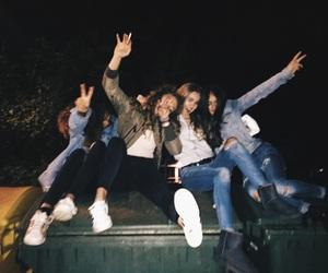 fun, night, and friends image