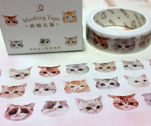 cat head, i love cat, and cat tape image