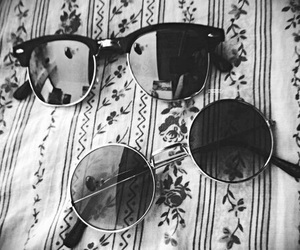 black and white and sun glasses image