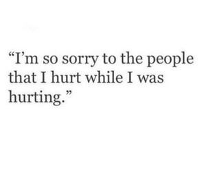 sorry and hurt image