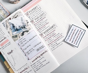 bullet journal, notes, and bujo image