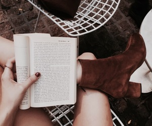 books, reading, and boots image