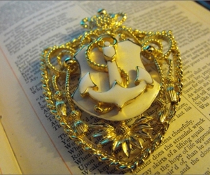 anchor, jewelry, and nautical image