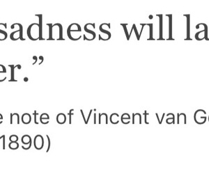 quotes, sadness, and van gogh image