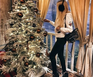 christmas, christmas tree, and fashion image