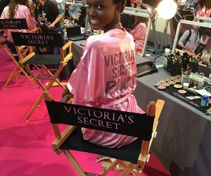 backstage, fashion show, and Victoria's Secret image