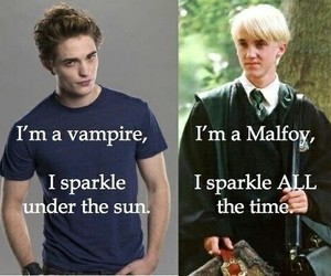 harry potter, draco malfoy, and twilight image