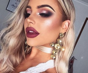 makeup, blonde, and bybrookelle image
