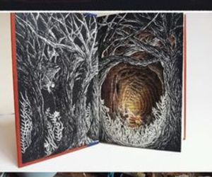 altered books, cave, and creative image