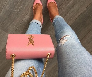 fashion, pink, and YSL image