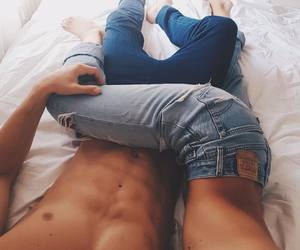 body, couple, and denim image