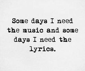 quote, Lyrics, and music image
