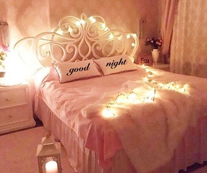 bedroom, bed, and candle image