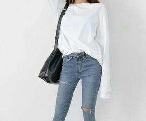 fashion, jeans, and korea image