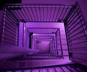 purple, grunge, and stairs image