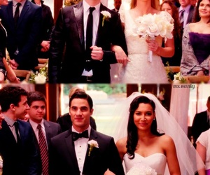 glee, klaine, and wedding image
