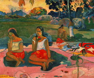 gauguin, Oil Painting, and post-impressionism image