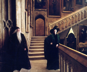harry potter, hogwarts, and albus dumbledore image