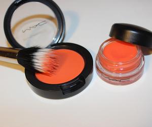 mac, make up, and orange image