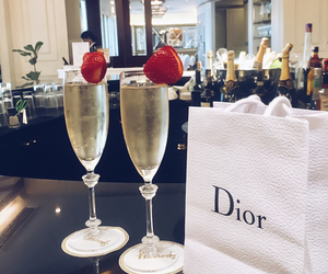 dior, luxury, and drink image