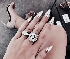 nails, rings, and shoes image