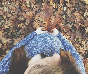 artsy, autumn, and baby bump image