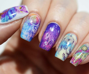 dreamcatcher, nail art, and nails image