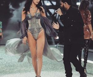 bella hadid, the weeknd, and Victoria's Secret image