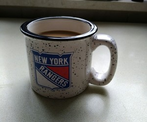 coffee, hockey, and good morning image