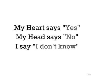 heart, head, and yes image