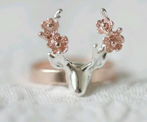 ring, deer, and flowers image