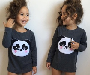 twins, kids, and sisters image