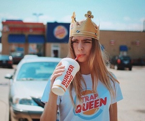 aesthetic, crown, and trap queen image