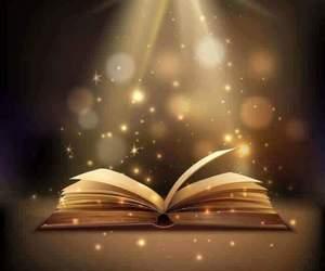 book, light, and magic image