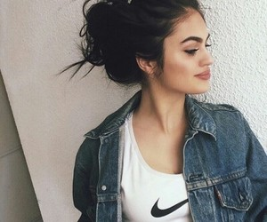 nike, girl, and hair image