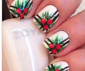 christmas, fashion, and nail art image
