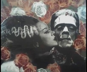 Frankenstein, love, and flowers image