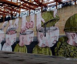 war, art, and graffiti image