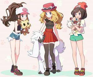 pokemon, moon, and serena image