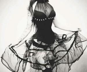 dress, black, and girl image