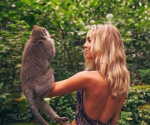 animal, girl, and blonde image
