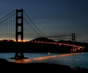 bay, lights, and sanfrancisco image
