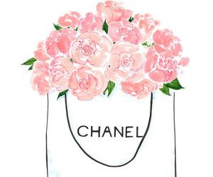 chanel, fashion art, and peonies image